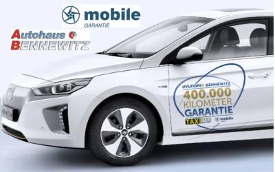 Neue Topabsicherung für eTaxis von mobile GARANTIE & Hyundai Taxizentrum Bennewitz