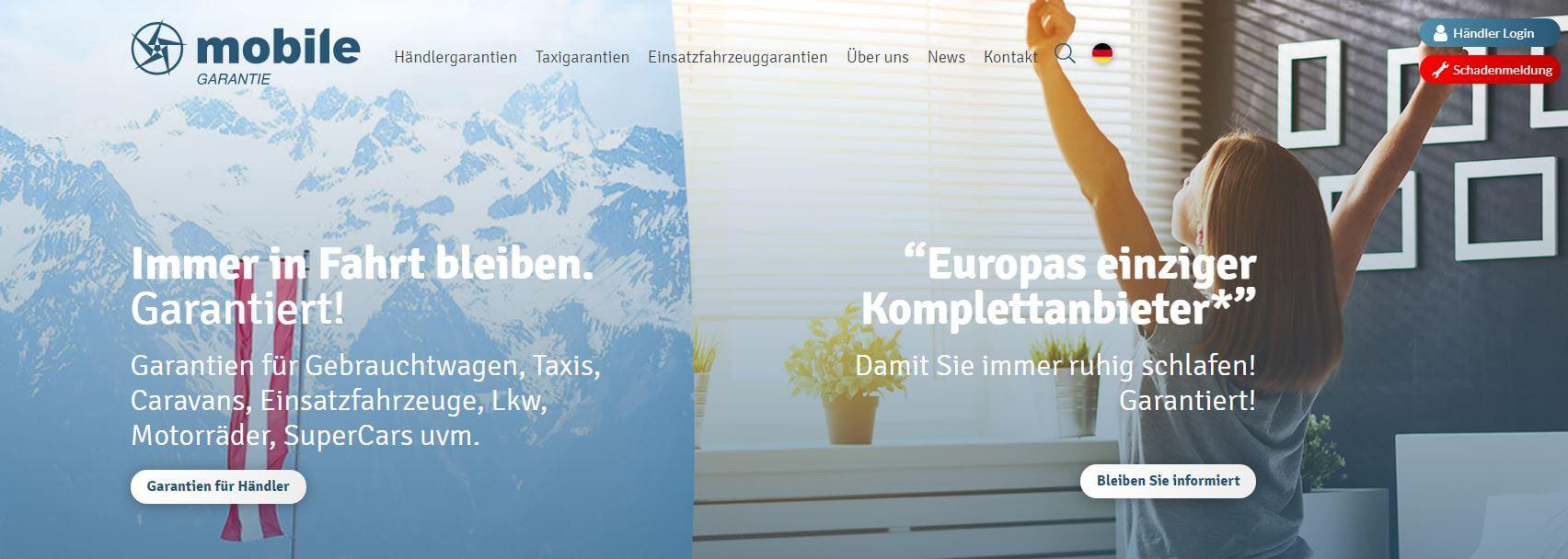 Webseite für Österreich